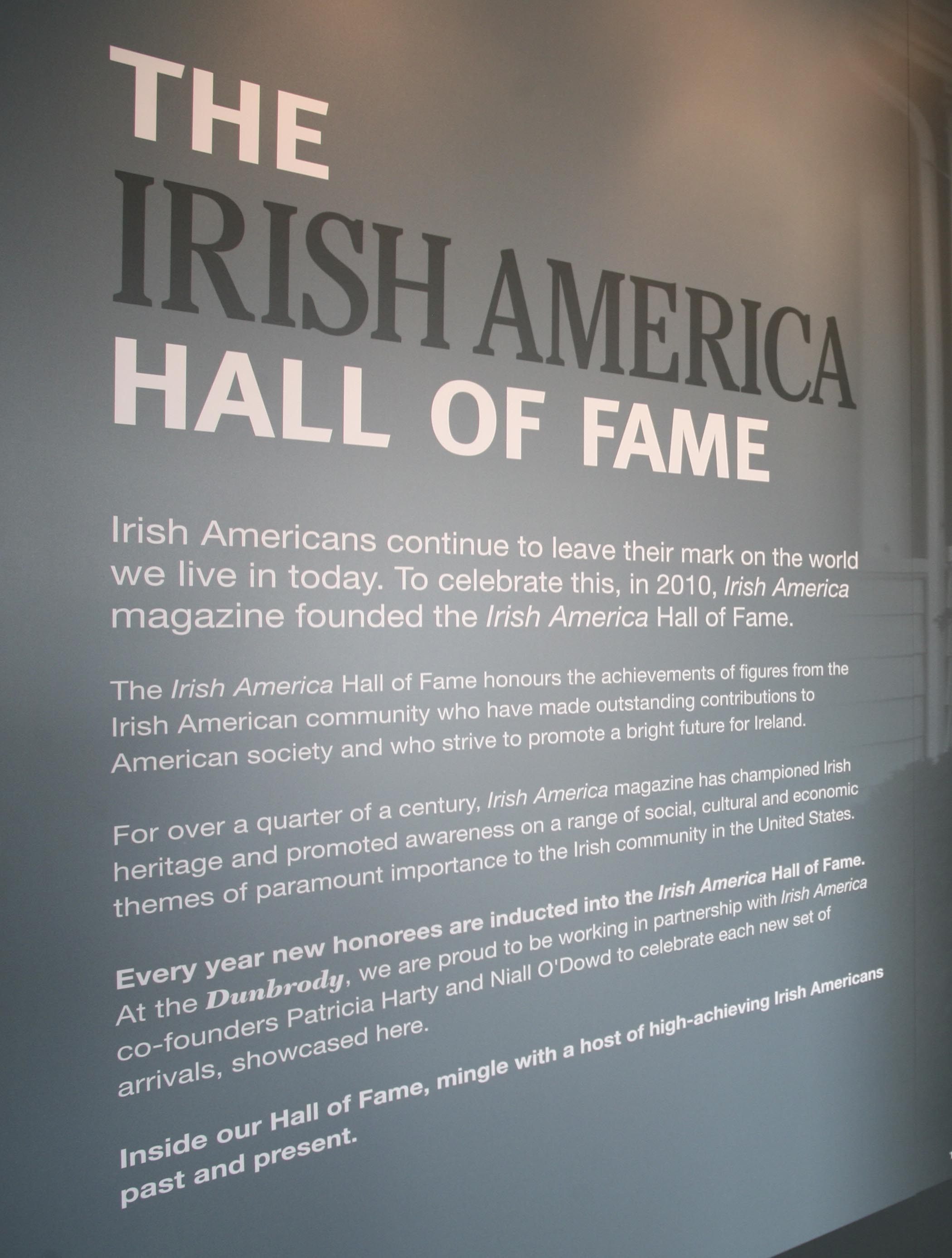 The Irish America Hall of Fame