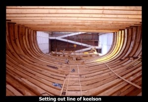 Setting out line of Keelson